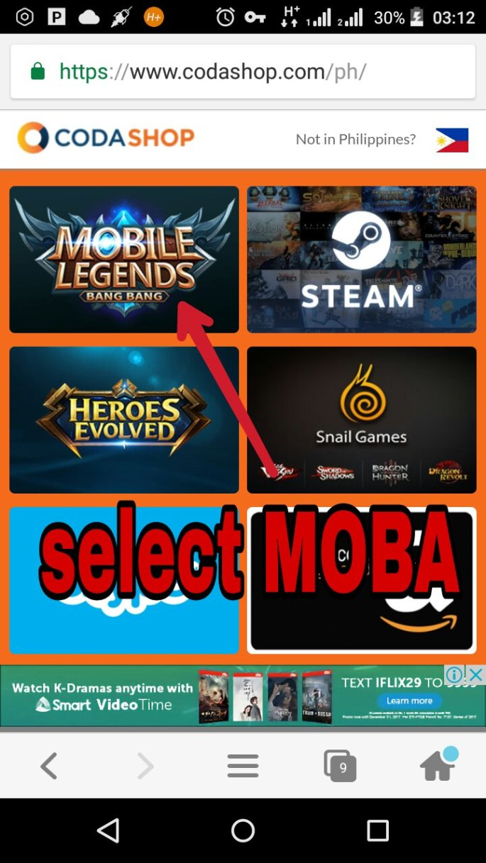 How to get freya in mobile legends for only 10php techdroid ph go to httpcodashop then click mobile legends stopboris Choice Image